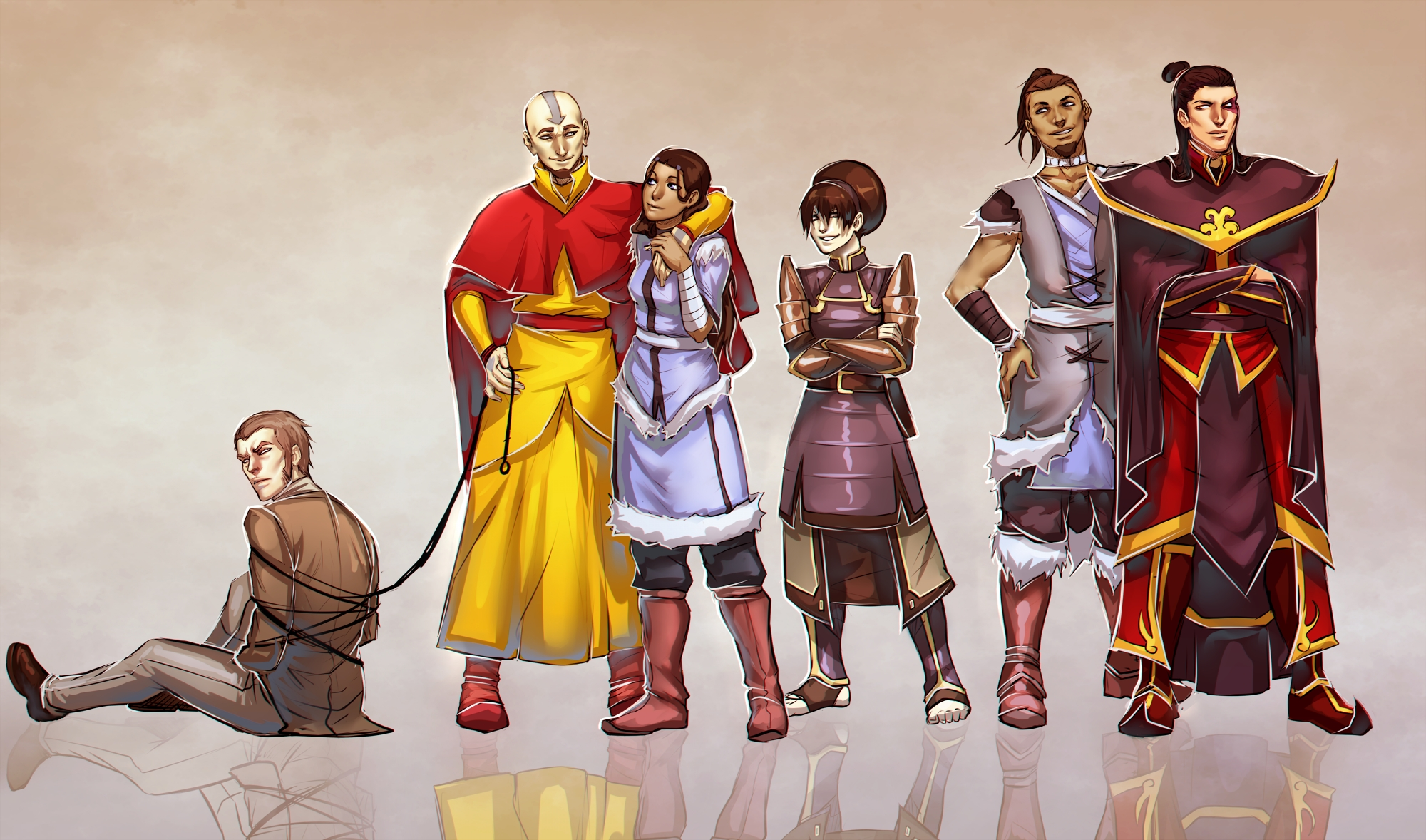 Avatar the Last Airbender Characters Grown Up