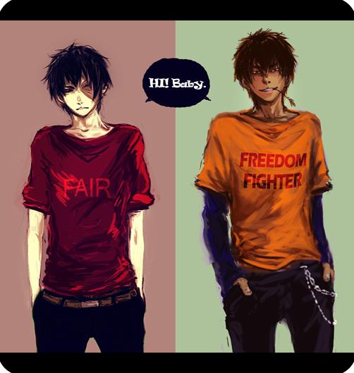Tags: Anime, Pixiv Id 3164006, Avatar: The Last Airbender, Zuko, Jet (Avatar: The Last Airbender), Pixiv, Fanart