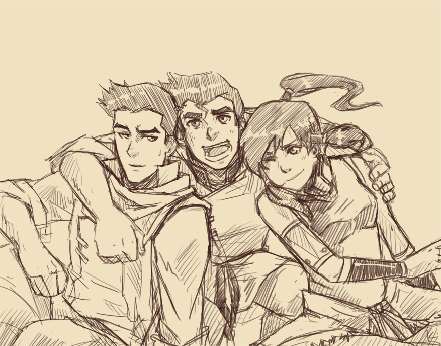 Tags: anime, avatar: the legend of korra, korra, bolin, mako (avatar