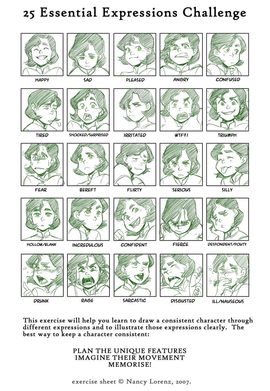 Character Design Expression Chart : Bolin zerochan