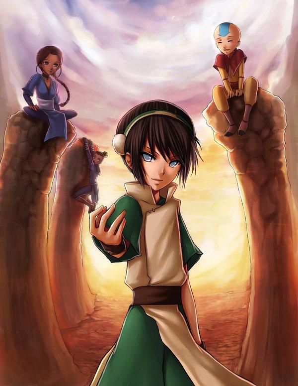 Tags anime avatar the last airbender aang sokka katara toph bei