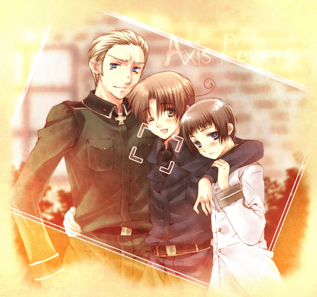 Tags: Anime, Axis Powers: Hetalia, Germany, North Italy, Japan, Artist Request, Axis Power Countries