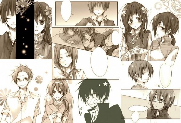 Tags: Anime, Pixiv Id 441540, Axis Powers: Hetalia, Hong Kong, South Korea, Japan, Taiwan (Male)