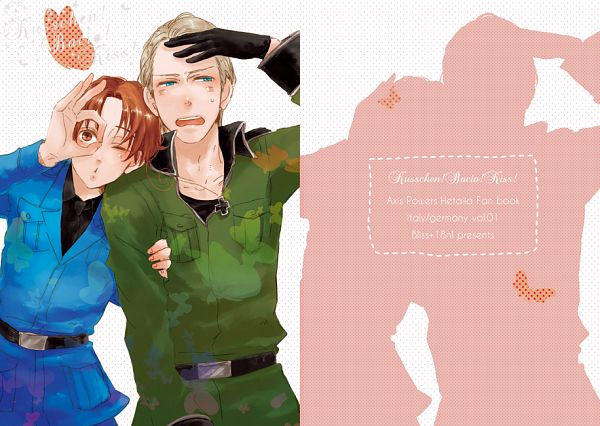 Tags: Anime, Fanart, Axis Powers: Hetalia, North Italy, Germany