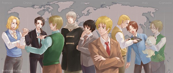 Tags: Anime, Pixiv Id 2136668, Axis Powers: Hetalia, United Kingdom, China, United States, France