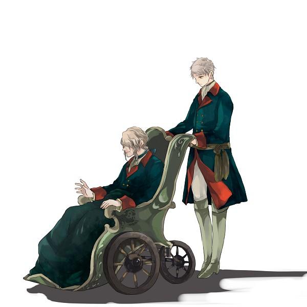 Tags: Anime, gorogoronyanko, Axis Powers: Hetalia, Prussia, Friedrich II, Shadow, Chair