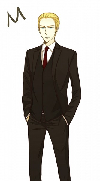 Tags: Anime, Pixiv Id 2960574, Axis Powers: Hetalia, Germany, Hand In Pocket, James Bond (Parody), Germanic Countries