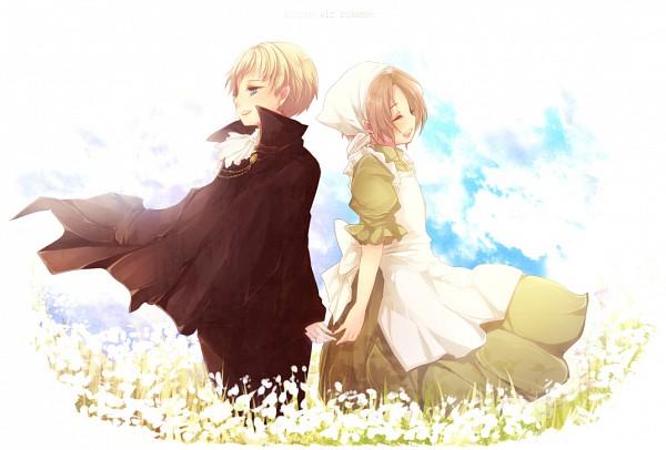 Tags: Anime, Tobi One, Axis Powers: Hetalia, Chibitalia, North Italy, Holy Roman Empire, Green Outfit