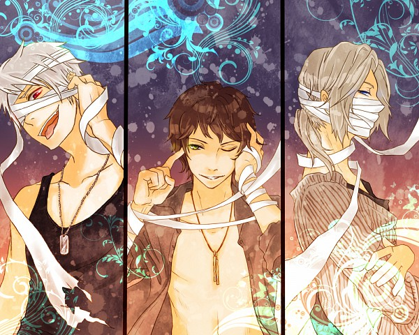 Tags: Anime, Irreale Rasen, Axis Powers: Hetalia, France, Spain, Prussia, Open Shirt