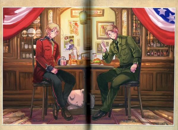 Tags: Anime, Himaruya Hidekaz, Studio Deen, Axis Powers: Hetalia, ArteStella, Canada, Kumajirou