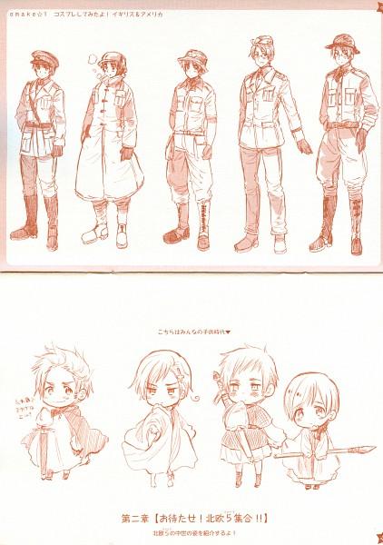 Tags: Anime, Axis Powers: Hetalia, Denmark, Norway, United Kingdom, United States, Finland