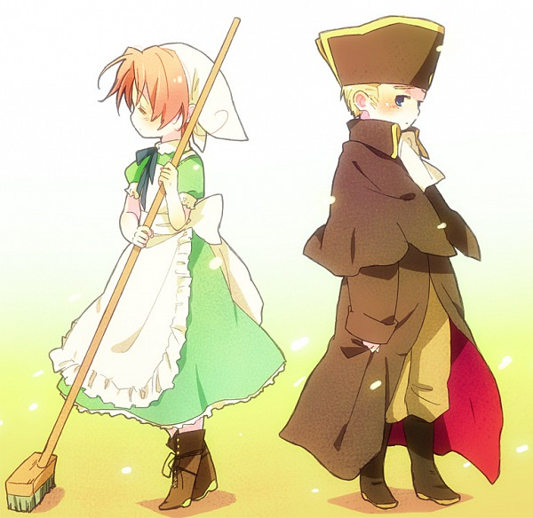 Tags: Anime, Guttary, Axis Powers: Hetalia, Chibitalia, Germany, North Italy, Holy Roman Empire