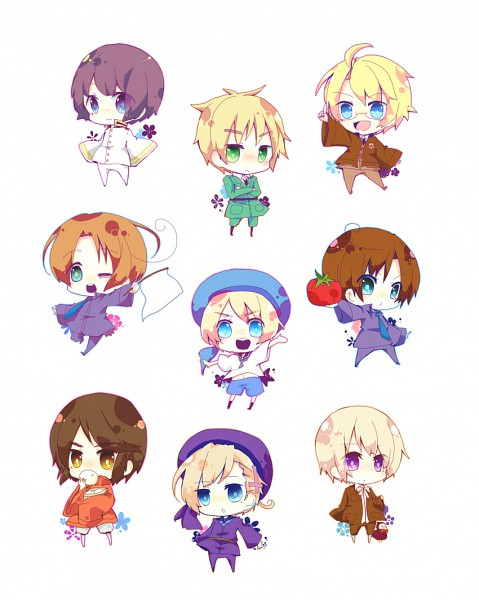 Tags: Anime, Axis Powers: Hetalia, Japan, Hong Kong, North Italy