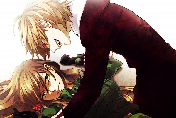 Tags: Anime, Shou G, Axis Powers: Hetalia, Romania, Hungary, Lie on Top of Each Other, Vampire