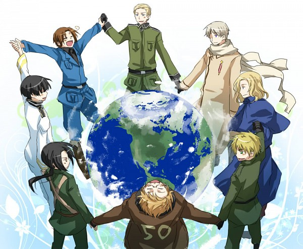 Tags: Anime, Pixiv Id 148321, Axis Powers: Hetalia, Germany, Japan, North Italy, Russia