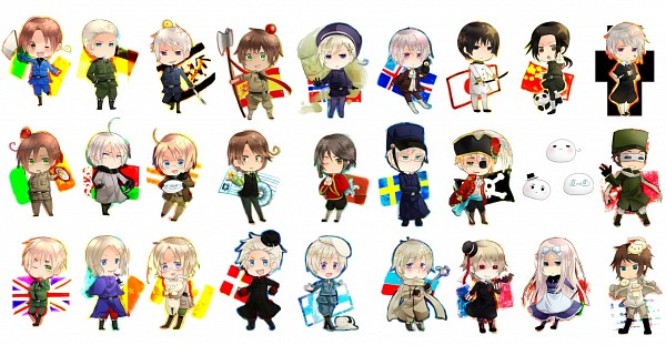 Tags: Anime, Souran-rougi, Axis Powers: Hetalia, France, Canada, Belarus (Male), North Italy