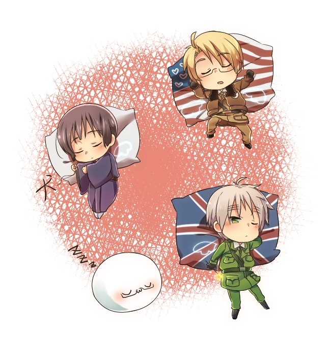Tags: Anime, Petagon, Axis Powers: Hetalia, United Kingdom, United States, Japan, Pixiv, Fanart, Axis Power Countries, Allied Forces, Asian Countries