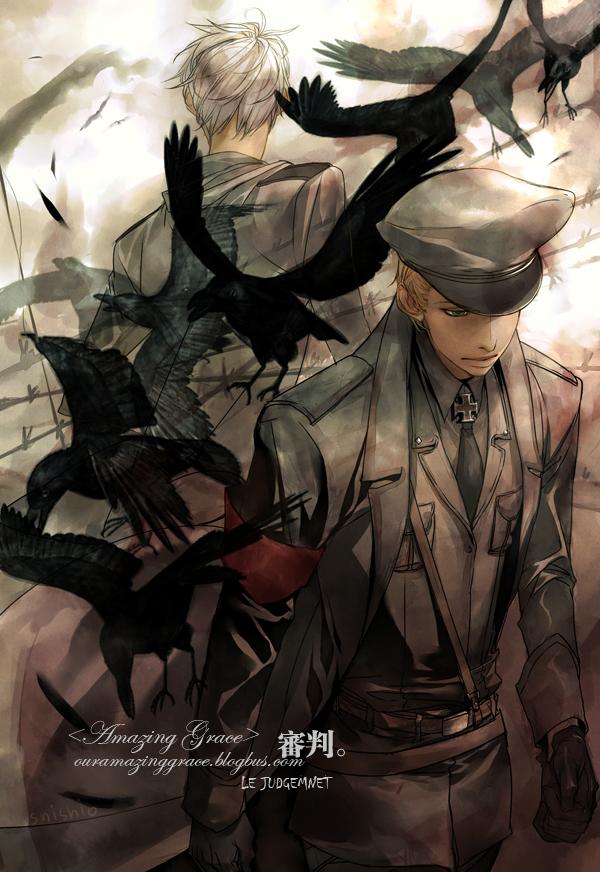 Tags: Anime, shishio*, Axis Powers: Hetalia, Germany, Prussia, Iron Cross, Fanart, Pixiv, Mobile Wallpaper