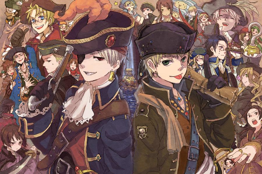 Axis powers hetalia image 1354615 zerochan anime image - Anime pirate wallpaper ...