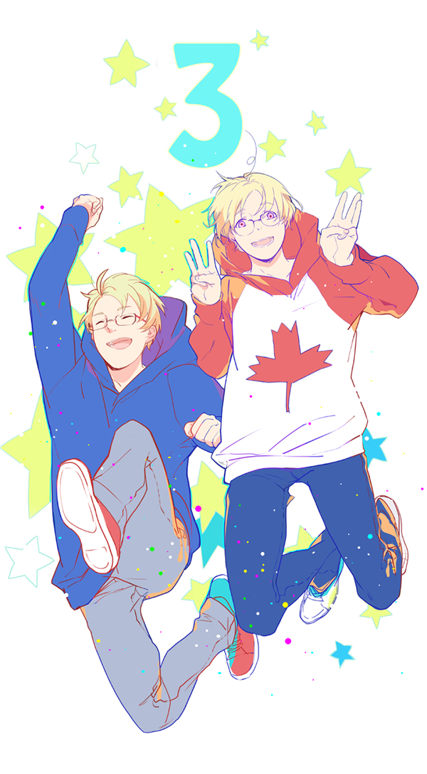 Tags: Anime, Nineo, Axis Powers: Hetalia, Canada, United States, Fanart From Pixiv, Fanart, Pixiv, Mobile Wallpaper, AmeCan