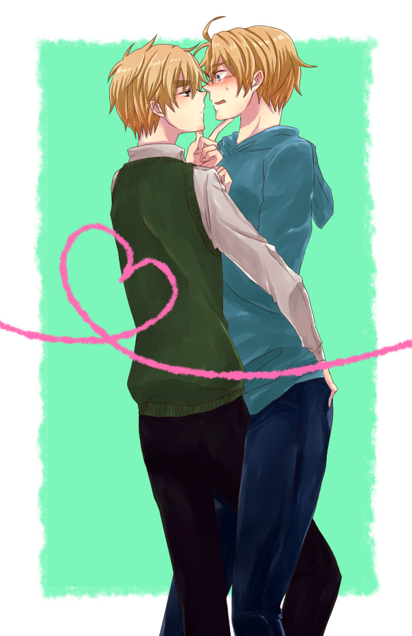 Tags: Anime, Axis Powers: Hetalia, United Kingdom, United States, Artist Request, Mobile Wallpaper, Allied Forces
