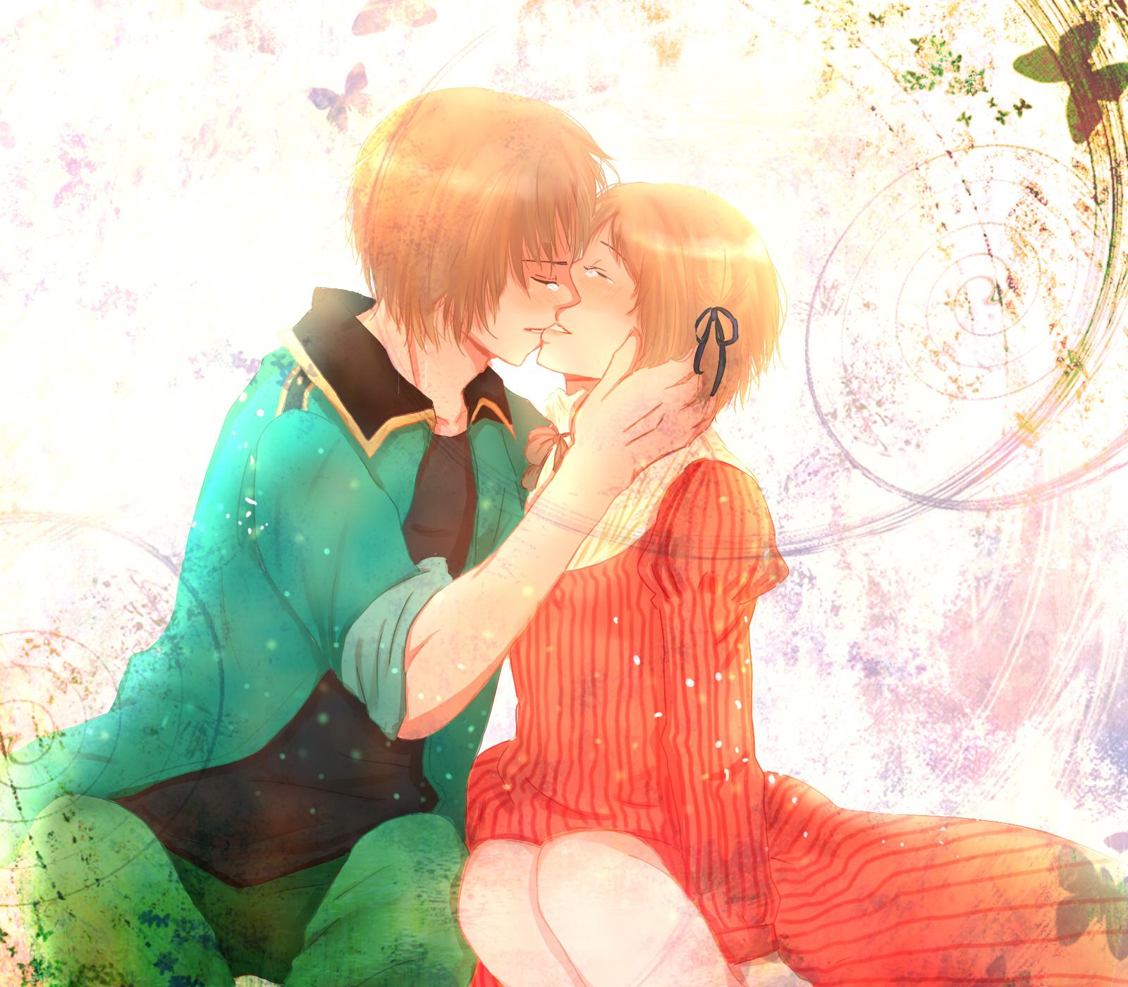 Целующиеся девушки рыжие картинки 3 фотография