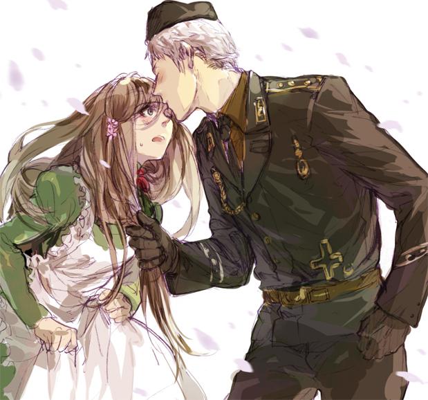 Tags: Anime, Lolisamurai, Axis Powers: Hetalia, Prussia, Hungary, Soldier, Fanart, PruHun
