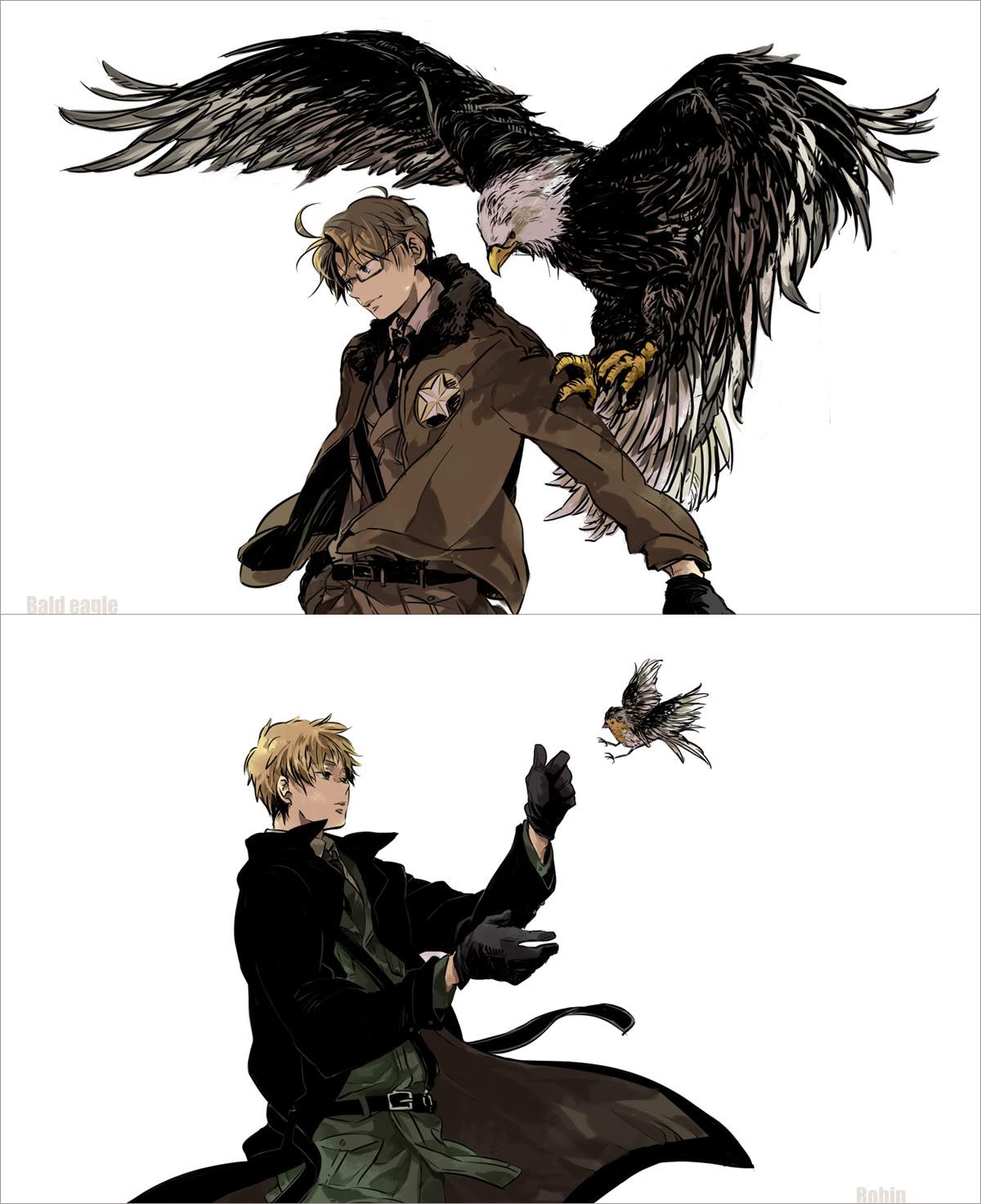 Hetalia American Revolution Robin (Bird) - Zerocha...