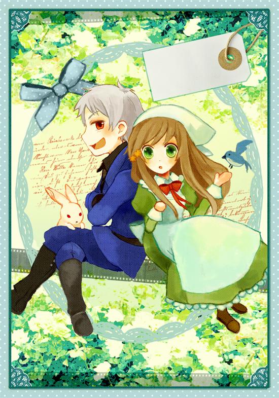 Tags: Anime, Amane (Rururia), Axis Powers: Hetalia, Prussia, Hungary, Pixiv
