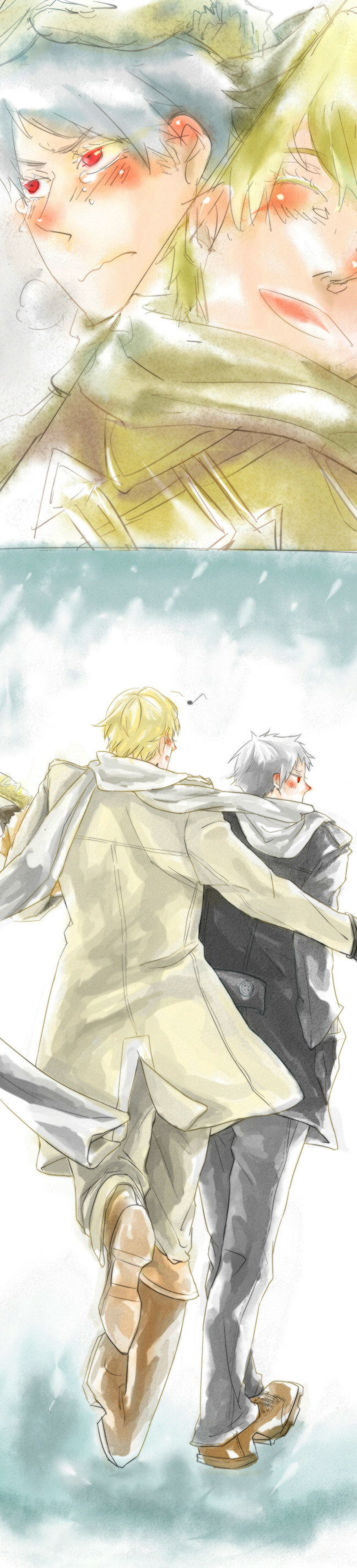 Tags: Anime, Axis Powers: Hetalia, Prussia, Russia, Artist Request