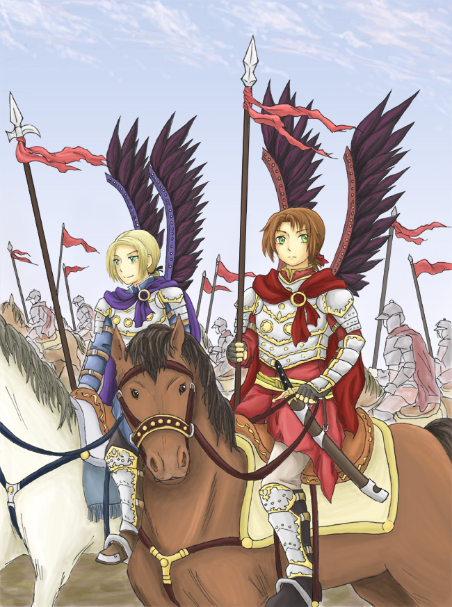 Tags: Anime, Axis Powers: Hetalia, Poland, Lithuania, Hussar, History, Artist Request
