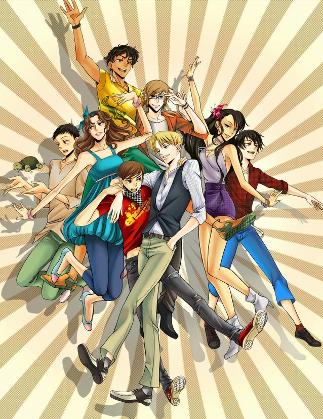 Tags: Anime, Pixiv Id 776783, Axis Powers: Hetalia, Colombia, Chile, Venezuela, Argentina, Peru, Brazil, Fan Character, Uruguay, Ecuador, Turtle