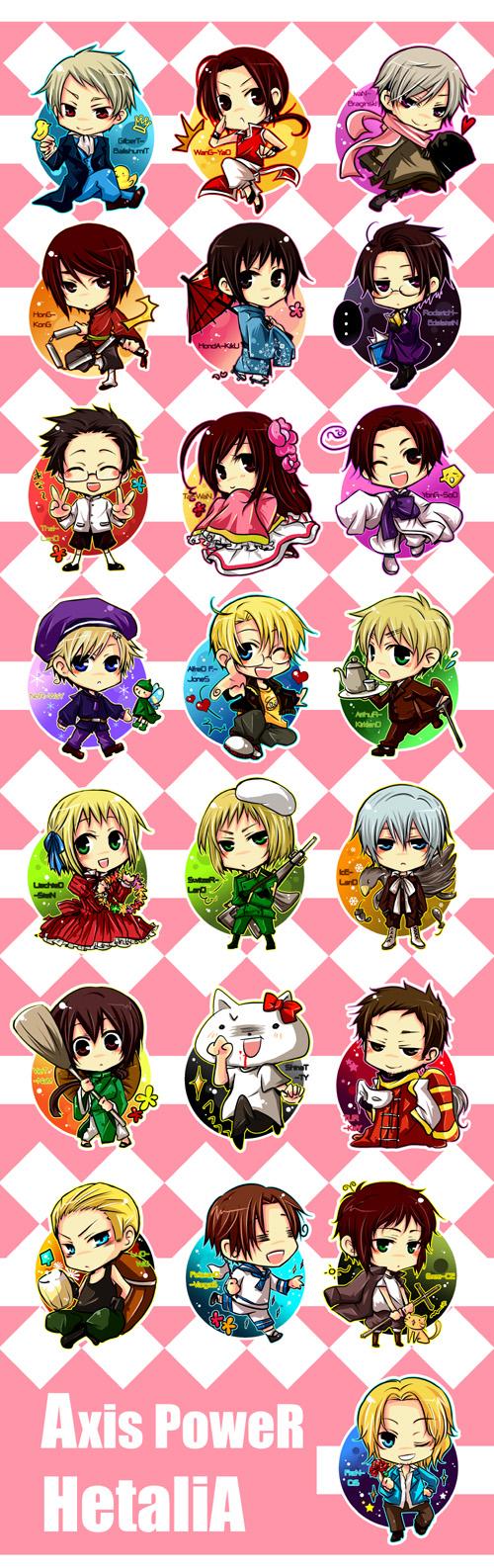 Tags: Anime, Kao (choco*icz), Axis Powers: Hetalia, Liechtenstein, United States, Shinatty-chan, China, Turkey, Japan, Germany, Thailand, Hong Kong, Vietnam