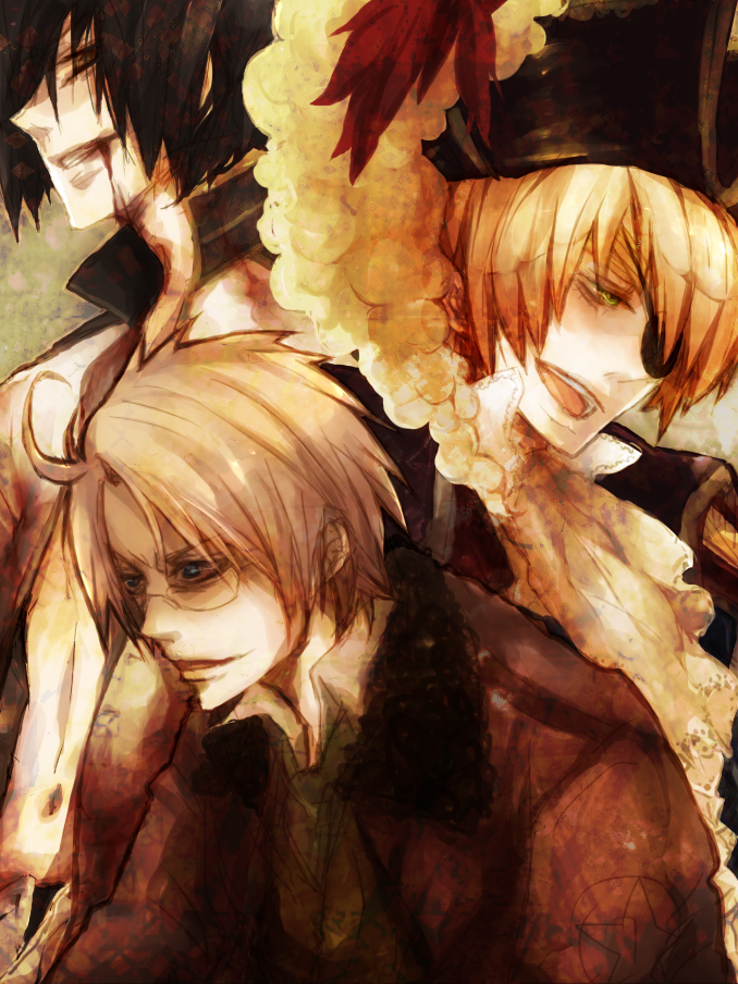 Tags: Anime, bambino, Axis Powers: Hetalia, United Kingdom, United States, Japan, Pixiv, Fanart, Axis Power Countries, Allied Forces, Asian Countries
