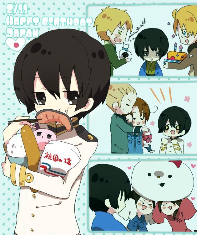 Tags: Anime, Pixiv Id 1284072, Axis Powers: Hetalia, China, Shinatty-chan, United Kingdom, Japan, United States, South Korea, Mochi Japan, Germany, North Italy, Hanbok