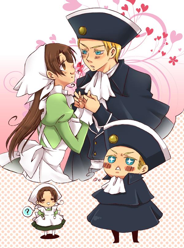 Tags: Anime, Nightcat, Axis Powers: Hetalia, Chibitalia, Germany, Holy Roman Empire, North Italy, North Italy (Female), Dreaming, Fanart, Pixiv, Nyotalia, Axis Power Countries