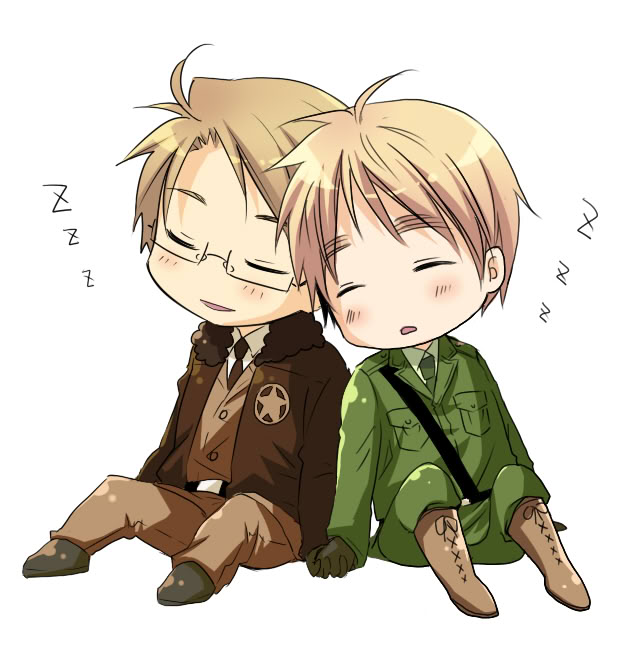 Tags: Anime, Axis Powers: Hetalia, United Kingdom, United States, Artist Request, Allied Forces