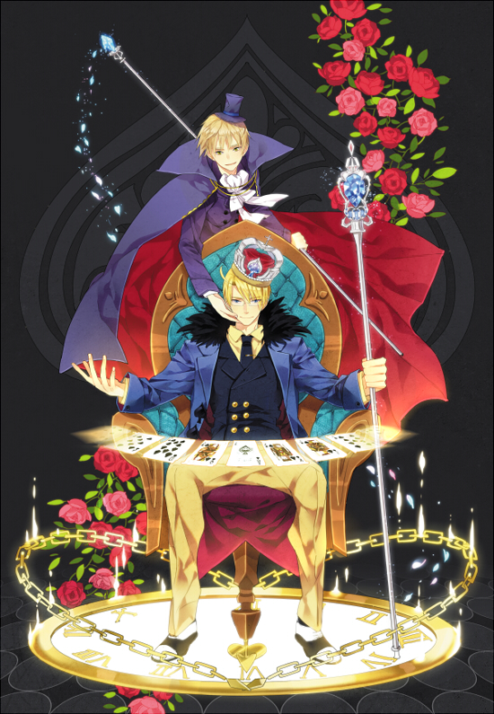 Tags: Anime, Mimosa, Axis Powers: Hetalia, United Kingdom, United States, Scepter, King, Spade (Card), Pixiv, Mobile Wallpaper, Cardverse, Allied Forces