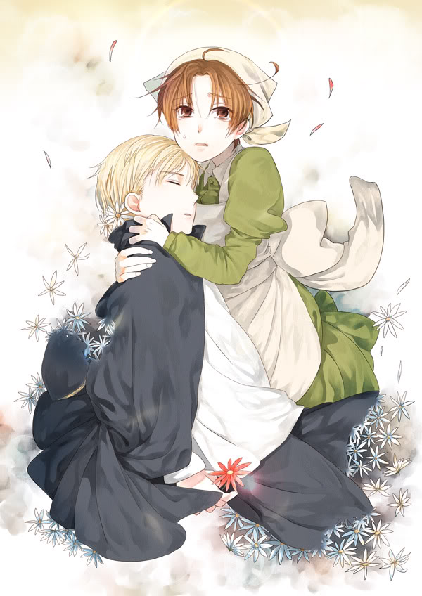 Tags: Anime, Axis Powers: Hetalia, Chibitalia, Germany, North Italy, Holy Roman Empire, Disappearing, Mobile Wallpaper, Mediterranean Countries