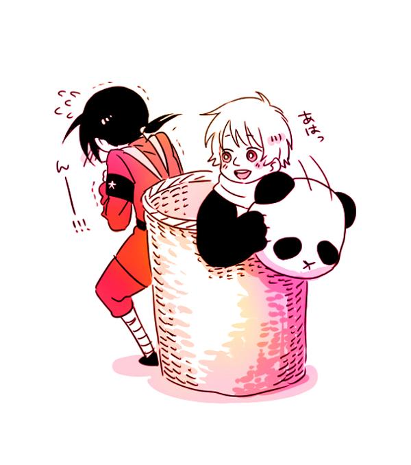 Tags: Anime, Pixiv Id 222950, Axis Powers: Hetalia, Russia, China, Panda Costume, Soviet Union, Allied Forces, Asian Countries, RoChu