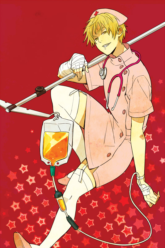 Tags: Anime, Sanoda / サノダ, Axis Powers: Hetalia, United Kingdom, Hospital, Stethoscope, I.V. Pole, Mobile Wallpaper, April Fool's Day, Allied Forces