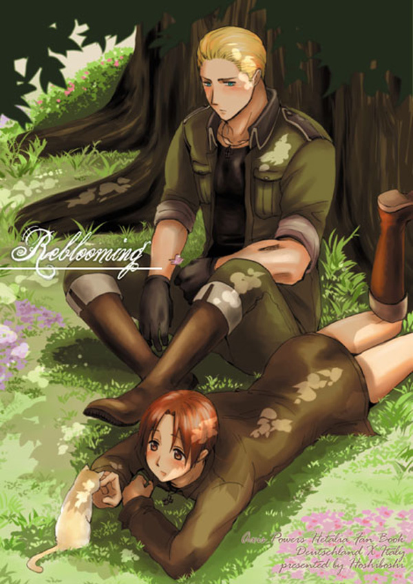 Tags: Anime, Axis Powers: Hetalia, Germany, North Italy, Mobile Wallpaper, Mediterranean Countries, Axis Power Countries