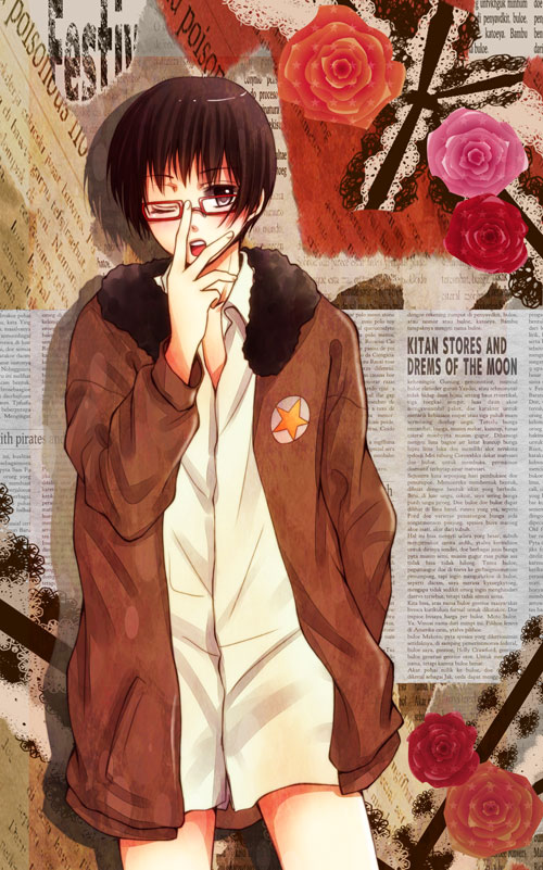 Tags: Anime, Pixiv Id 1154292, Axis Powers: Hetalia, Japan, United States (Cosplay), Mobile Wallpaper, Axis Power Countries, Asian Countries