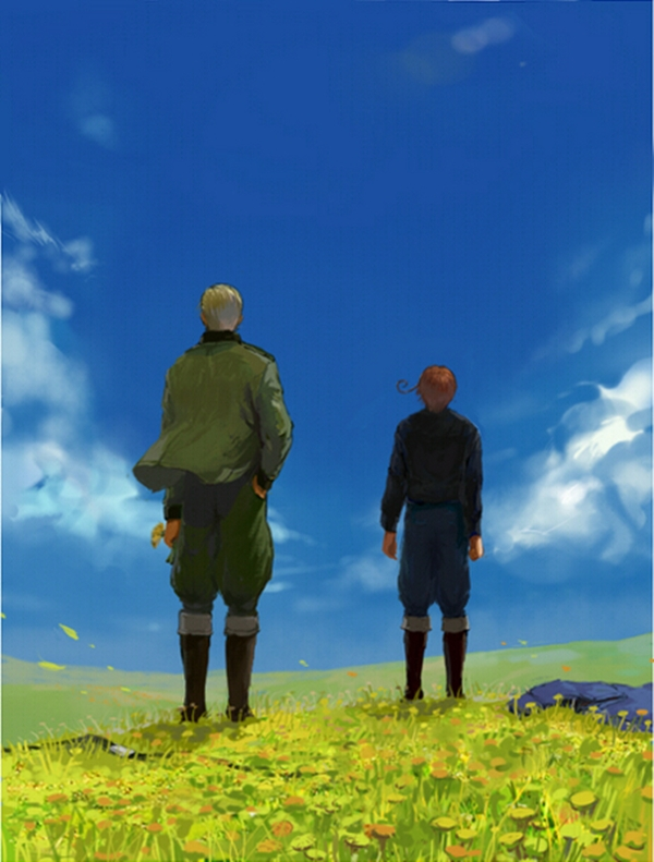 Tags: Anime, Axis Powers: Hetalia, Germany, North Italy, Axis Power Countries, Mediterranean Countries