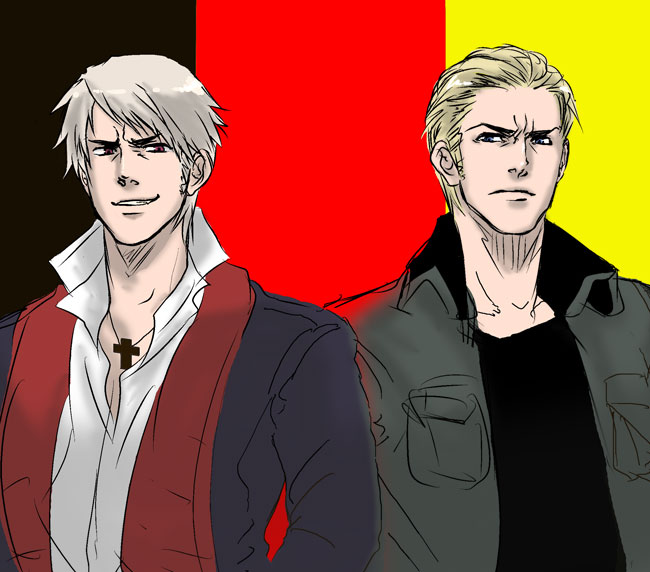 Tags: Anime, Natu Yasai, Axis Powers: Hetalia, Prussia, Germany, Flag Background, Iron Cross