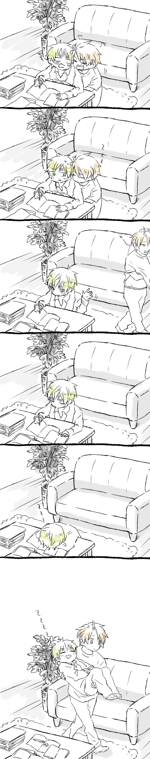 Tags: Anime, Axis Powers: Hetalia, United Kingdom, United States, Snore, Comic, Allied Forces