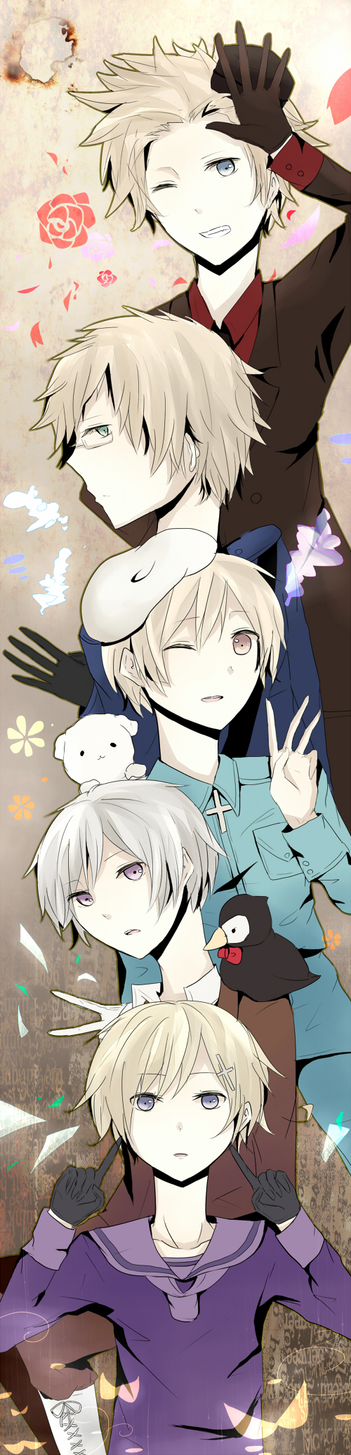 Tags: Anime, Axis Powers: Hetalia, Finland, Sweden, Iceland, Denmark, Norway, Pixiv, Fanart, Nordic Countries