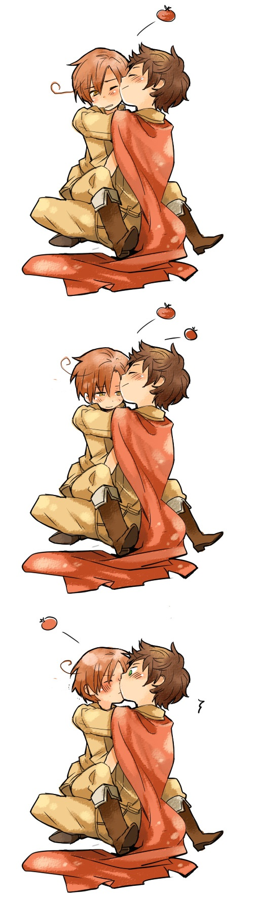 Tags: Anime, Jusc0, Axis Powers: Hetalia, South Italy, Spain, Comic, Spamano, Mediterranean Countries