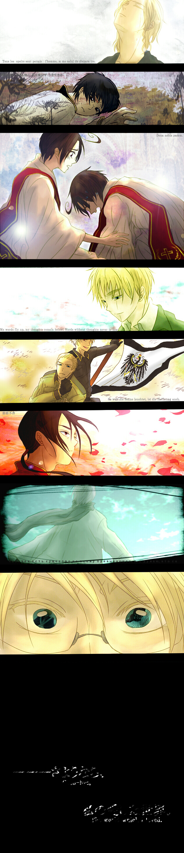 Tags: Anime, Axis Powers: Hetalia, Romaheta, United Kingdom, China, United States, France, Germany, Japan, Russia, Prussia, Fanart, American Revolutionary War