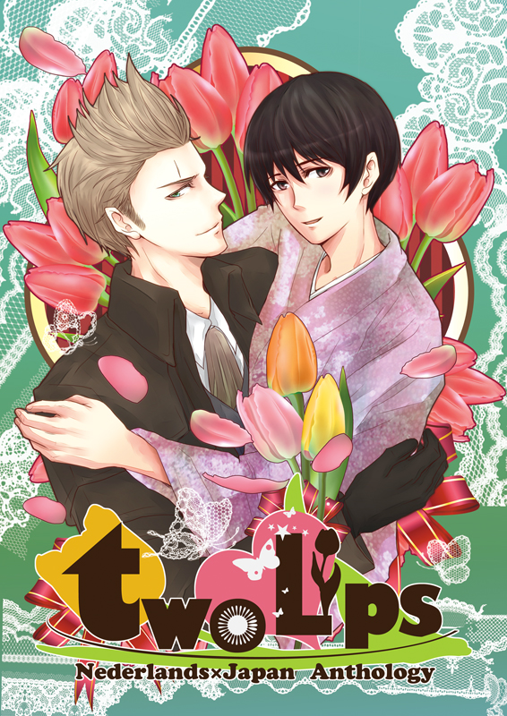 Tags: Anime, 3zoo, Axis Powers: Hetalia, Netherlands, Japan, Tulip, Fanart, Doujinshi Cover, Asian Countries, Axis Power Countries